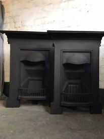 Cast Iron Fireplace matching pair