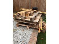 Free pallets/burning wood