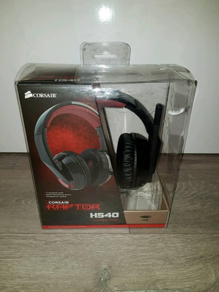 Corsair Raptor HS40 Gaming Headset - Brand New Unboxed