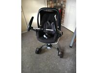 Red quinny zapp xtra with car seat