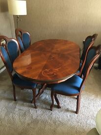 Italian style dining table and chairs