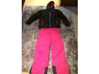 Girls ski jacket and trousers, age 11-12
