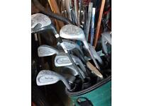 £40 for everything Golf clubs, trolleys, size 9 shoes and golf balls