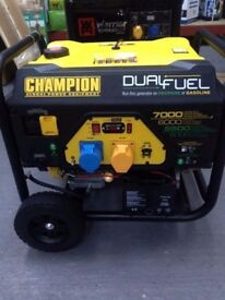 CHAMPION 7000 WATT DUAL FUEL GENERATOR , PETROL OR GAS ,BALLYNAHINCH, SUITABLE - CATERING VANS