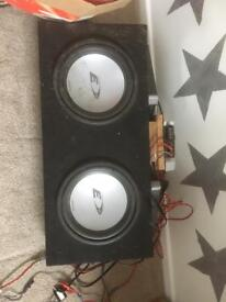 Car speakers and amps