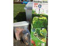 Brand new (still boxed) bird feeding station - plus additional feeder and food