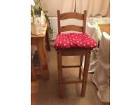 Like new Mexican pine bar stool