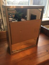 Stainless Steel Mirrored Bathroom Cabinet Brand New - Never Used