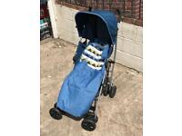 Pushchair with sunshade