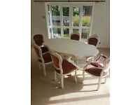 Kitchen/ dining / dinner table solid wood with 6 chairs