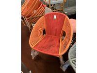Nordic garden chair Orange & Pink