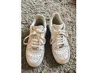 Nike Air Force Ones size 5.5 but will fit 6