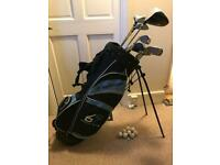 Dunlop 65 iconic golf clubs presented in matching bag with 8 balls and a tee, *REDUCED BARGAIN*