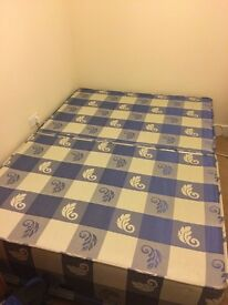 Double Bed Base for sale (optional free used mattress) - Collection only