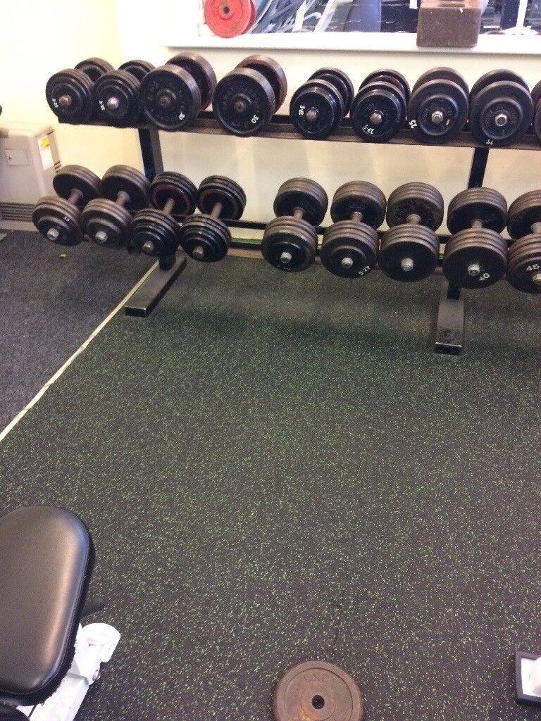 Full Set Of Cast Iron Dumbells