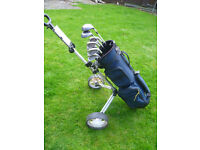 Powerbuilt Irons, Taylormade 'woods' and Trolley