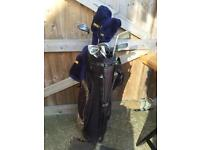 Set of golf clubs, right handed, adult size
