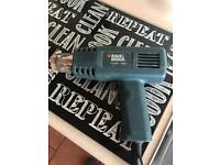 Heat gun for stripping paint etc