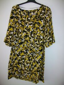 Size 8 Black & Gold silk dress