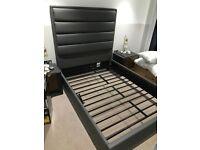 Modern double bedframe with luxury headboard