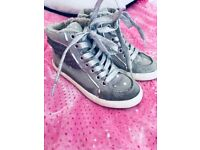 Next Grey/Silver High Tops Size 10