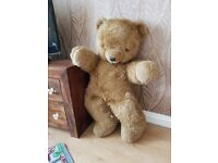 Giant Vintage brown Teddy Bear (1970's) - Real Soft Toys Watford Herts England
