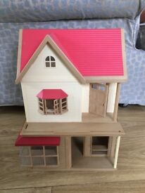 Sylvanian Families Bakery And Rose Cottage Buildings