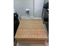 Large solid wicker box
