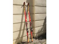 Classic Salomon skis and poles