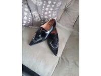 Men's Black Patent Formal Shoes Size 9