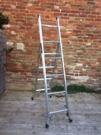 3 Way multi purpose stepladder , ladder , stair ladder