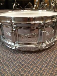 "Rogers Dyna-Sonic Caisse claire / Snare 14""x5 Chrome Over Brass usagée -used"