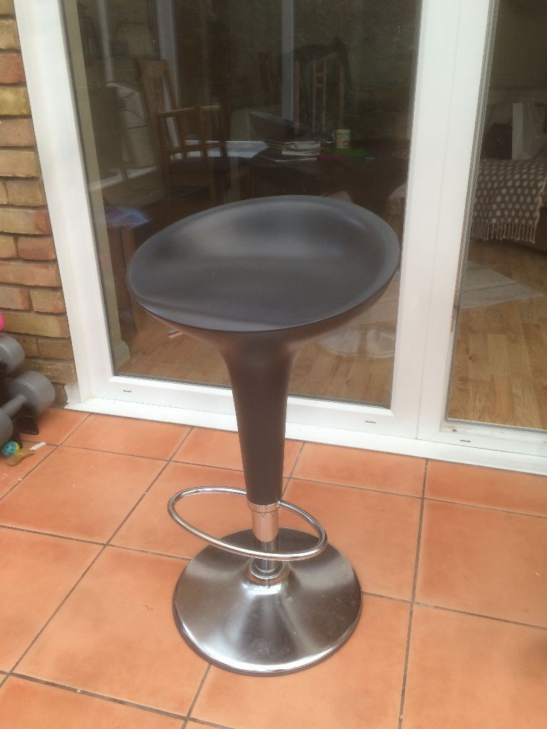 Magis bombo graphite grey bar stools x 3 from john and for Magis bombo