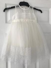 Ivory Flower Girl Dress and Cardigan 2-3yrs