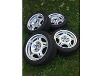 """Genuine Bmw e36 m3 style 24 17"""" wheels and tyres"""