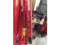 1 ton Hydraulic folding engine crane hoist lift jack red