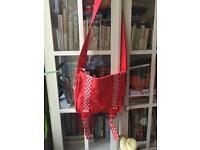 Smiggle satchel red