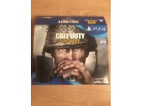 Brand New PlayStation 4 , only a week old. Comes with Call of Duty WW II