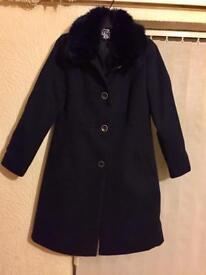 Debenhams The Collection navy coat size 12