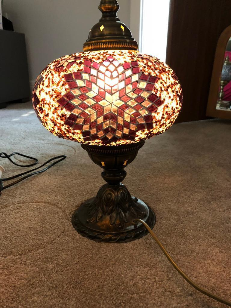 Stunning Moroccan Style Table Lamp And Candle Holders