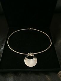 Cathy Stephens sterling silver necklace
