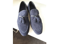 Harry's of London Mens Loafer Blue leather shoes Size 45 11 F