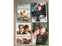 Romantic DVD's The Fault in Our Stars The Railway Man Suite Francaise Salmon Fishing In The Yemen
