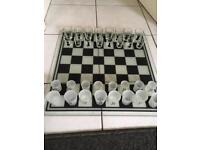 Chess game glass