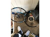 "Alex rims 26"" deore Hubs and ice technology discs"