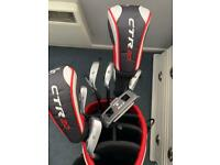 Full set golf clubs (no driver) 6,7,8,9,PW,SW, 3 Wood & 5 Wood and putter - with bag
