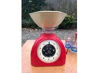 Vintage retro weighing scales