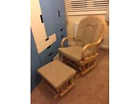 Nursery Rocking Chair and Foot Stool