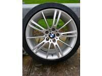 "Official BMW Msport MV3 18"" Alloys + Tyres"