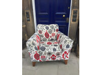 Large Armchair - free local delivery A contemporary upholstered armchair , in good condition .